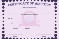 15+ Adoption Certificate Templates | Free Printable Word inside Toy Adoption Certificate Template