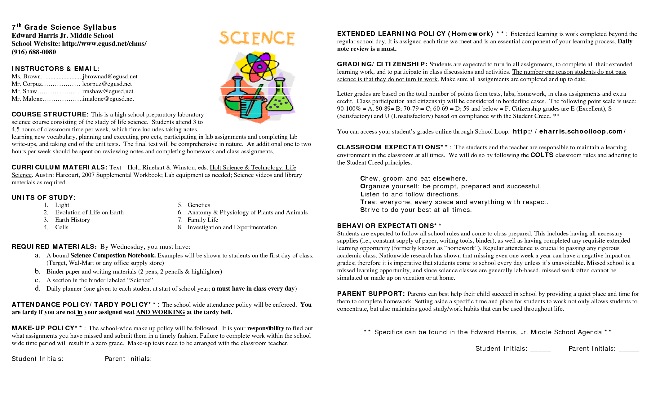 15 Awesome Syllabus Template For Middle School Images Pertaining To Blank Syllabus Template