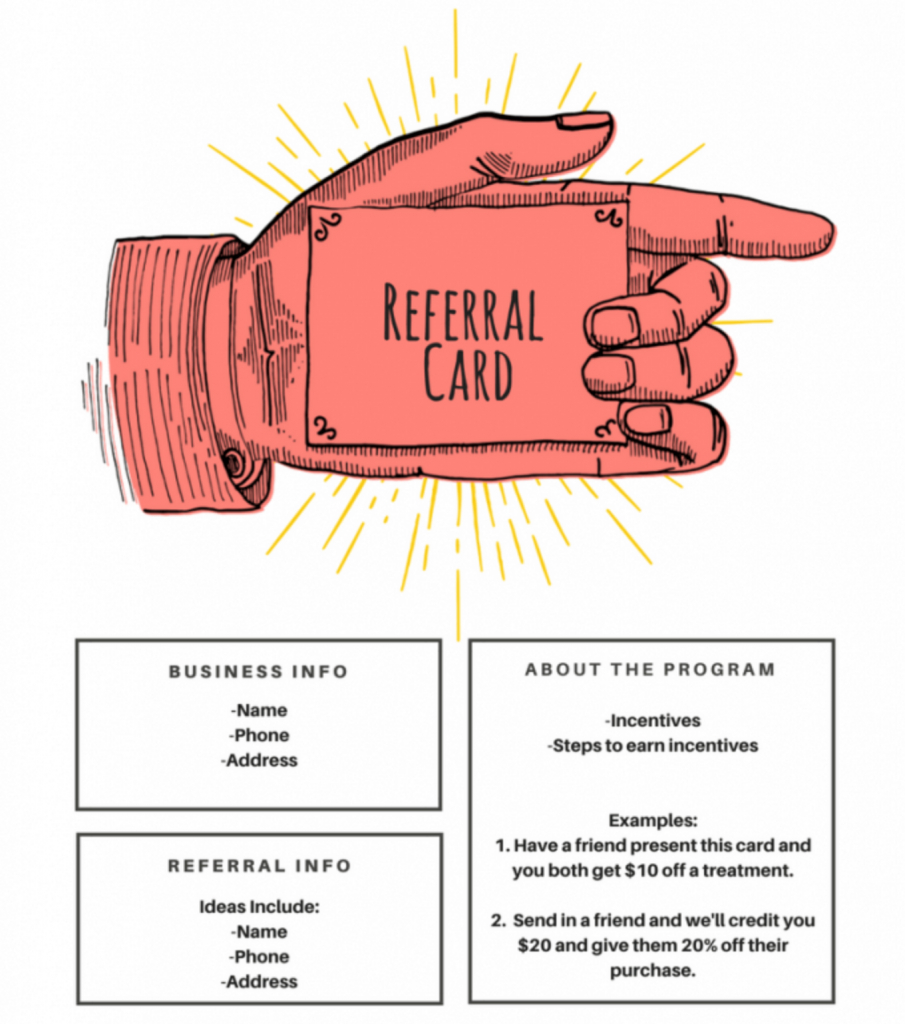 15 Examples Of Referral Card Ideas And Quotes That Work intended for Referral Card Template