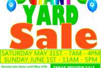 15 Free Yard Sale Flyers Of Great Help – Demplates with regard to Garage Sale Flyer Template Word