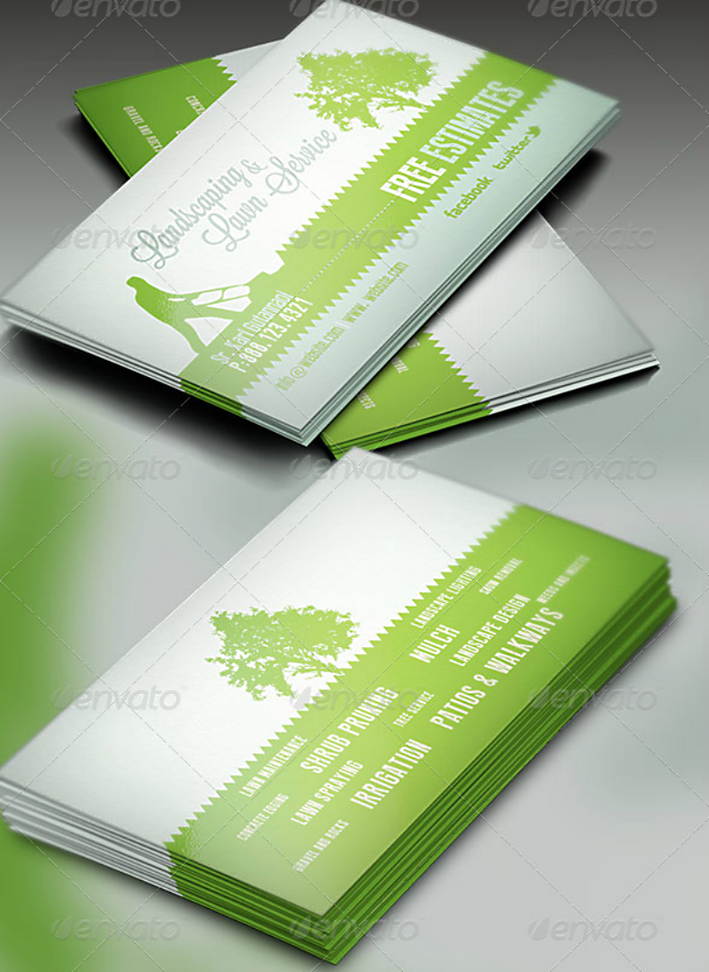 15+ Landscaping Business Card Templates - Word, Psd   Free inside Landscaping Business Card Template