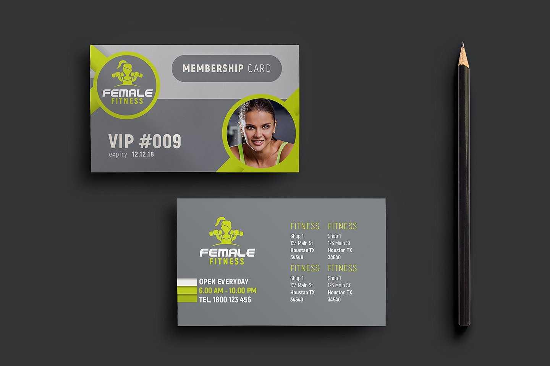 15+ Membership Card Designs | Design Trends – Premium Psd Within Gym Membership Card Template