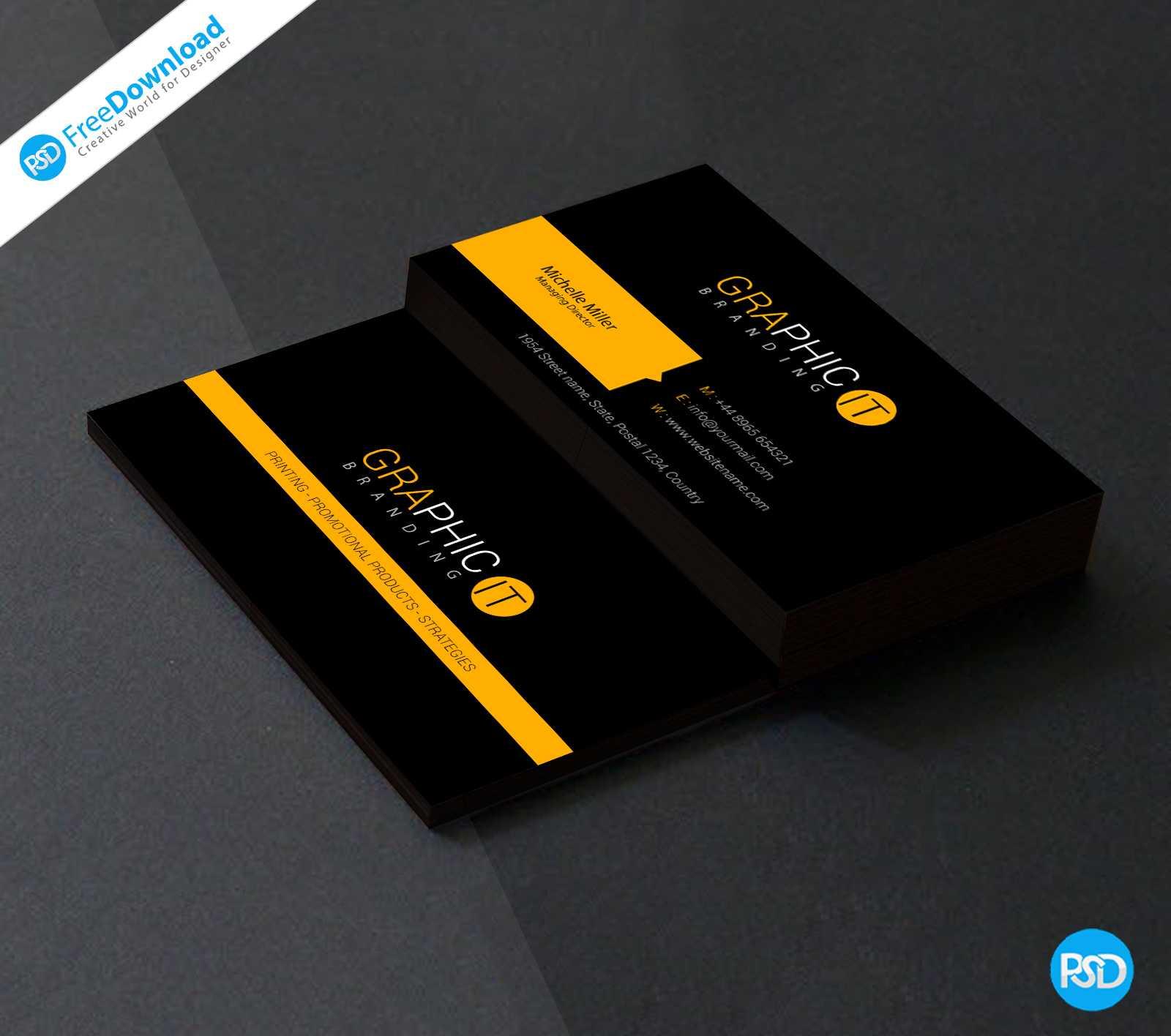 150+ Free Business Card Psd Templates throughout Name Card Design Template Psd