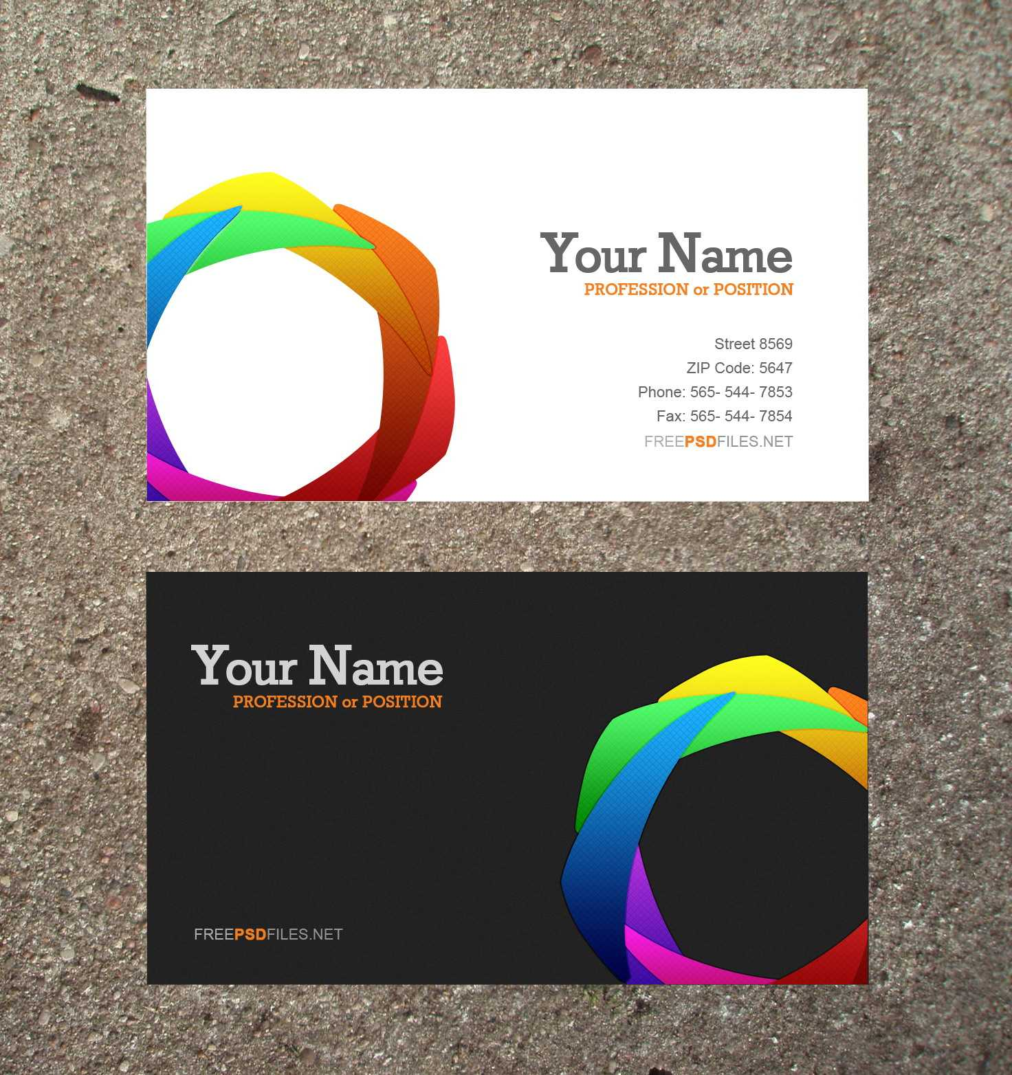 16 Business Card Templates Images - Free Business Card in Microsoft Templates For Business Cards