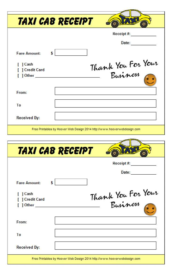 16+ Free Taxi Receipt Templates - Make Your Taxi Receipts Easily for Blank Taxi Receipt Template