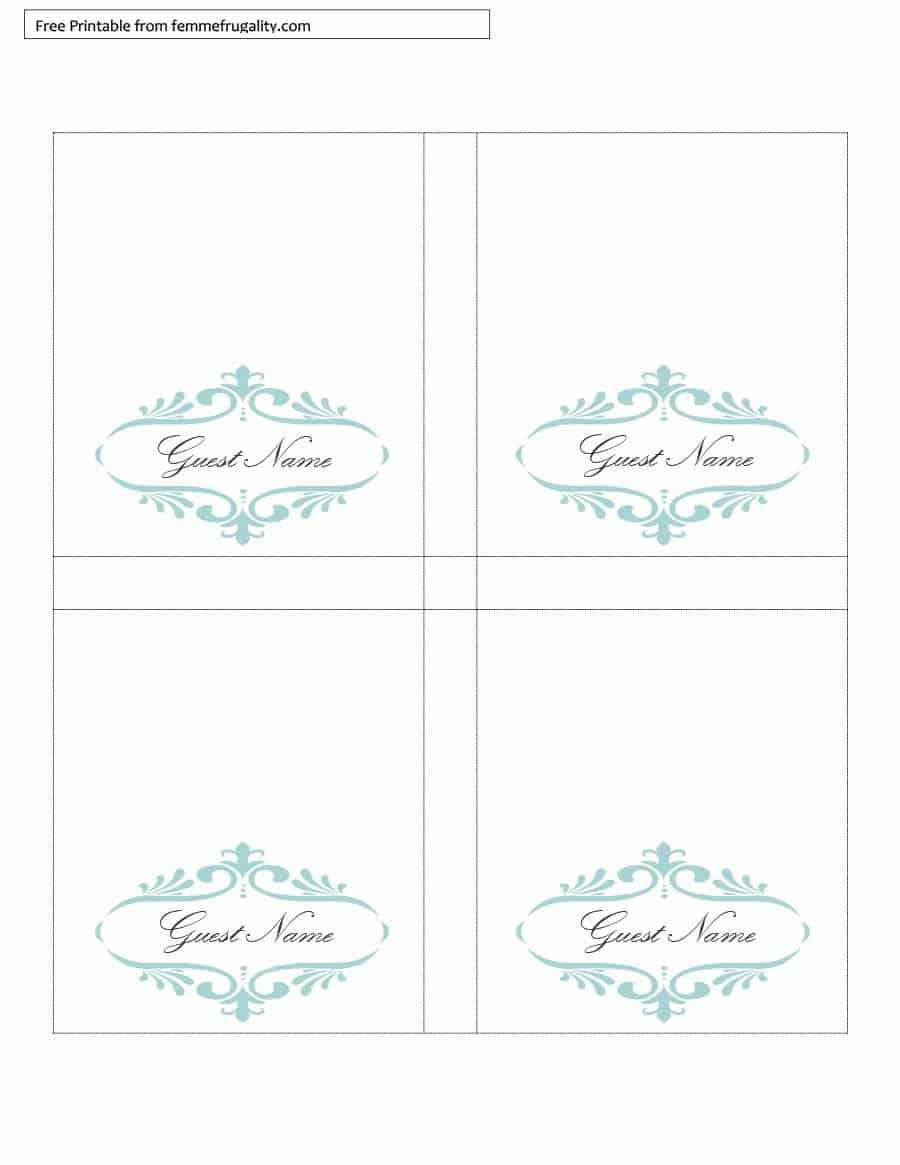 16 Printable Table Tent Templates And Cards ᐅ Template Lab Intended For Free Tent Card Template Downloads