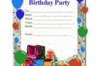 17 Free Birthday Templates For Word Images – Free Birthday in Birthday Card Template Microsoft Word