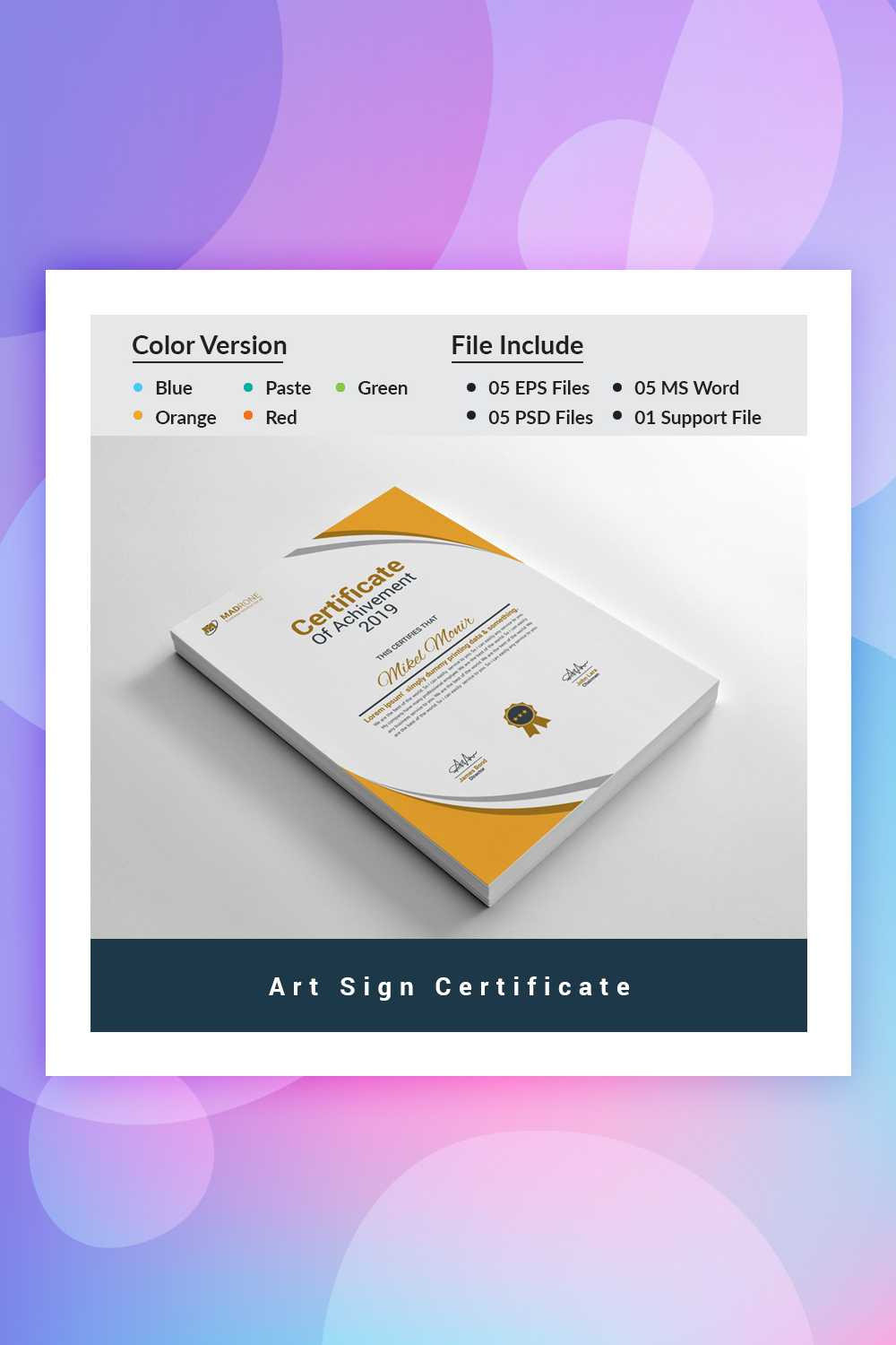19 Attention-Grabbing Certificate Templates - Colorlib inside No Certificate Templates Could Be Found