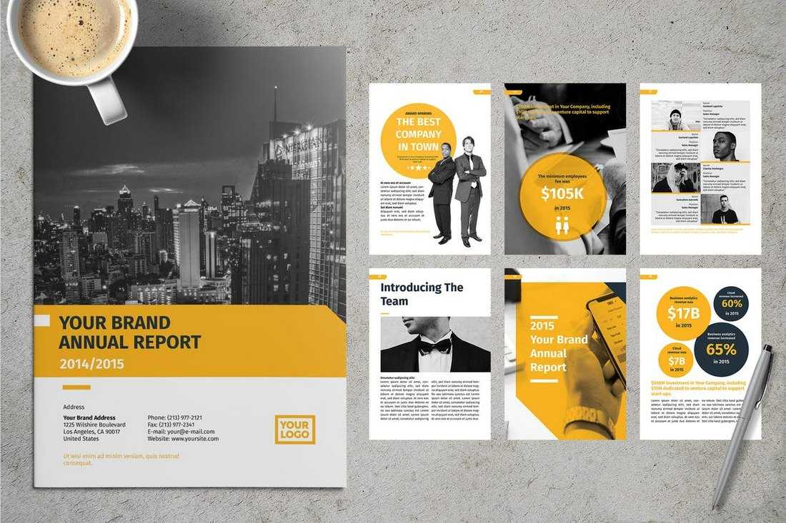 20+ Annual Report Templates (Word & Indesign) 2019 - Do A Intended For Annual Report Template Word