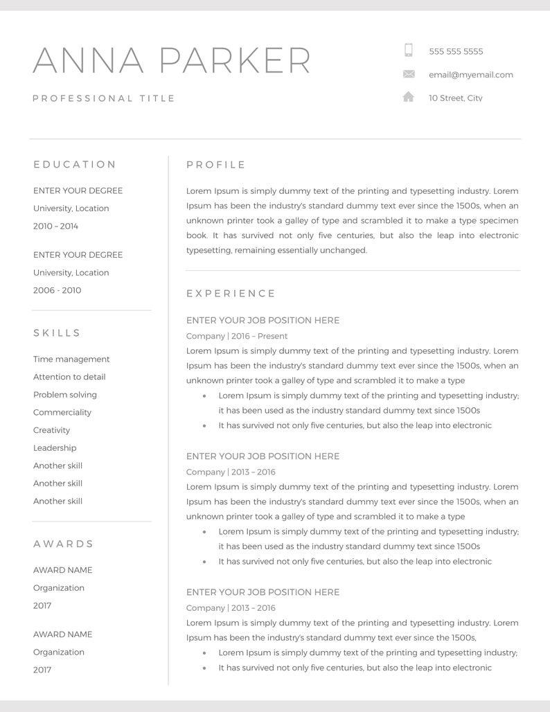 20+ Free And Premium Word Resume Templates [Download] Inside Resume Templates Microsoft Word 2010