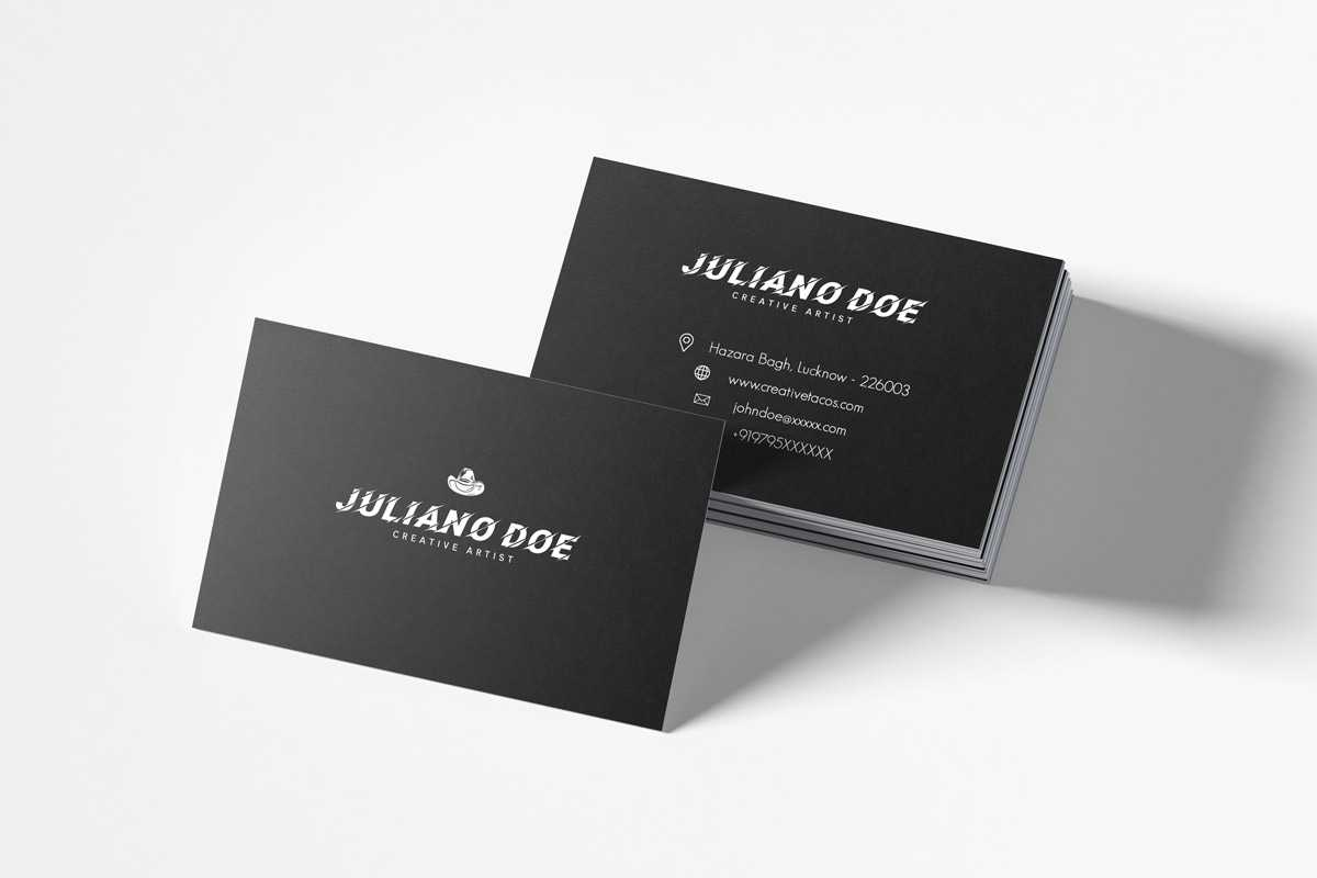 200 Free Business Cards Psd Templates - Creativetacos for Name Card Design Template Psd