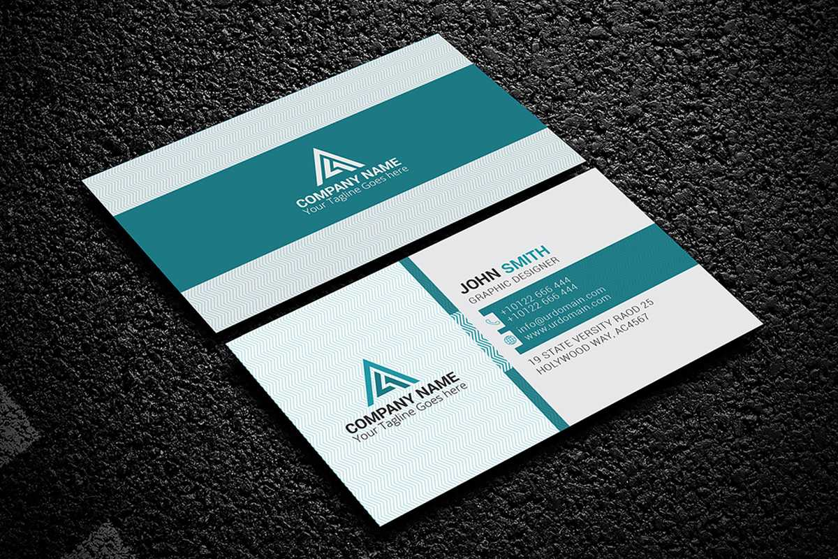 200 Free Business Cards Psd Templates - Creativetacos Inside Psd Name Card Template