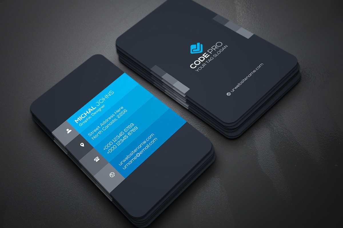 200 Free Business Cards Psd Templates - Creativetacos pertaining to Visiting Card Psd Template