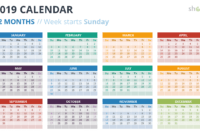 2019 Calendar Powerpoint Templates with Powerpoint Calendar Template 2015