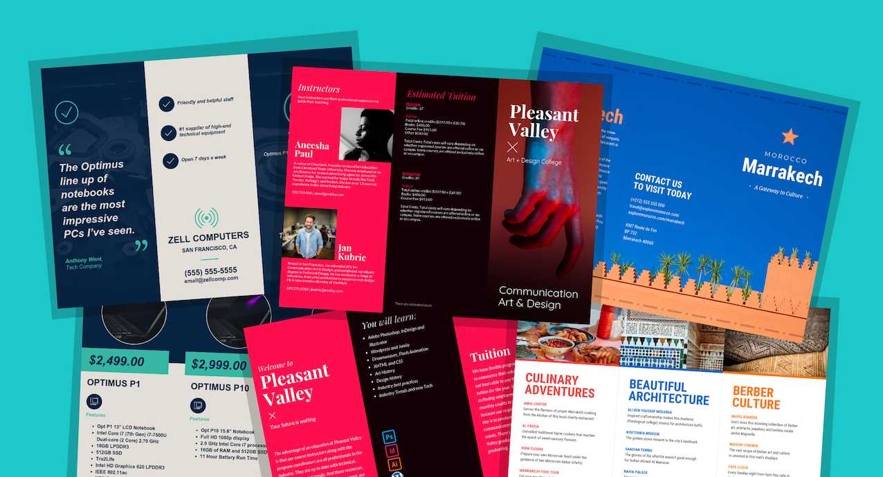 21 Brochure Templates And Design Tips To Promote Your inside E Brochure Design Templates
