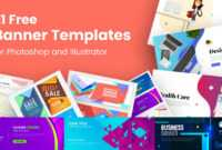 21 Free Banner Templates For Photoshop And Illustrator inside Adobe Photoshop Banner Templates