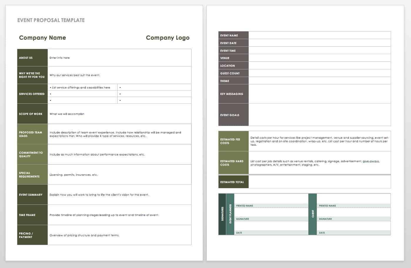 21 Free Event Planning Templates | Smartsheet regarding Free Event Program Templates Word