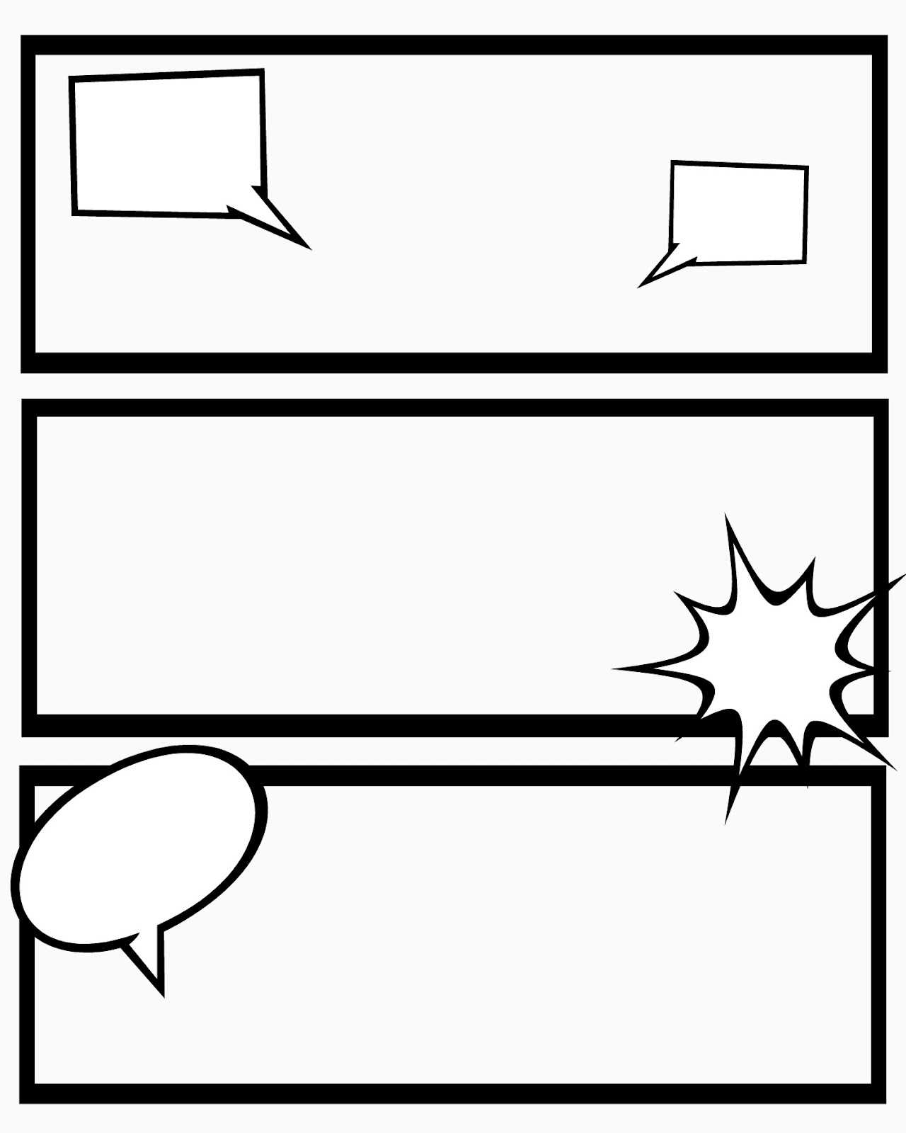 24 Images Of 8 Box Comic Strip Template With Blank Captions with Printable Blank Comic Strip Template For Kids