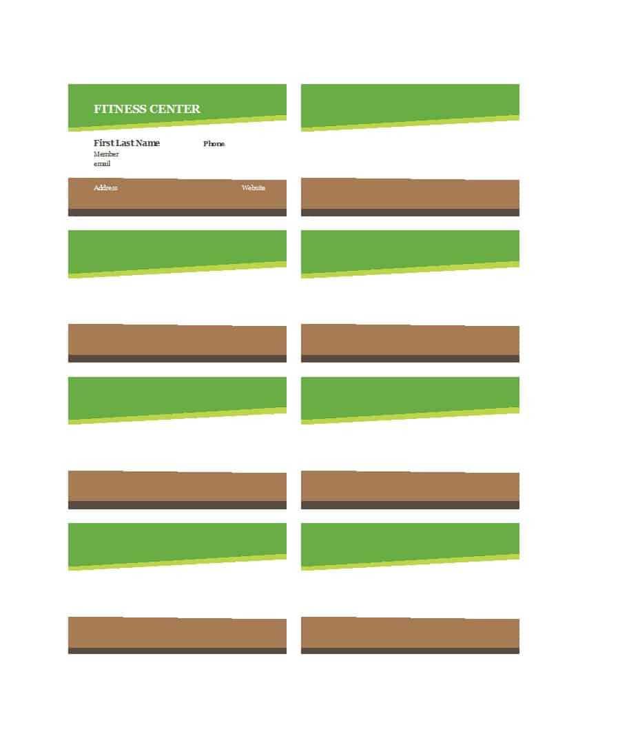 25 Cool Membership Card Templates & Designs (Ms Word) ᐅ With Gym Membership Card Template