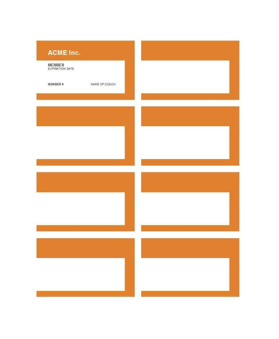 25 Cool Membership Card Templates & Designs (Ms Word) ᐅ With Regard To Gym Membership Card Template