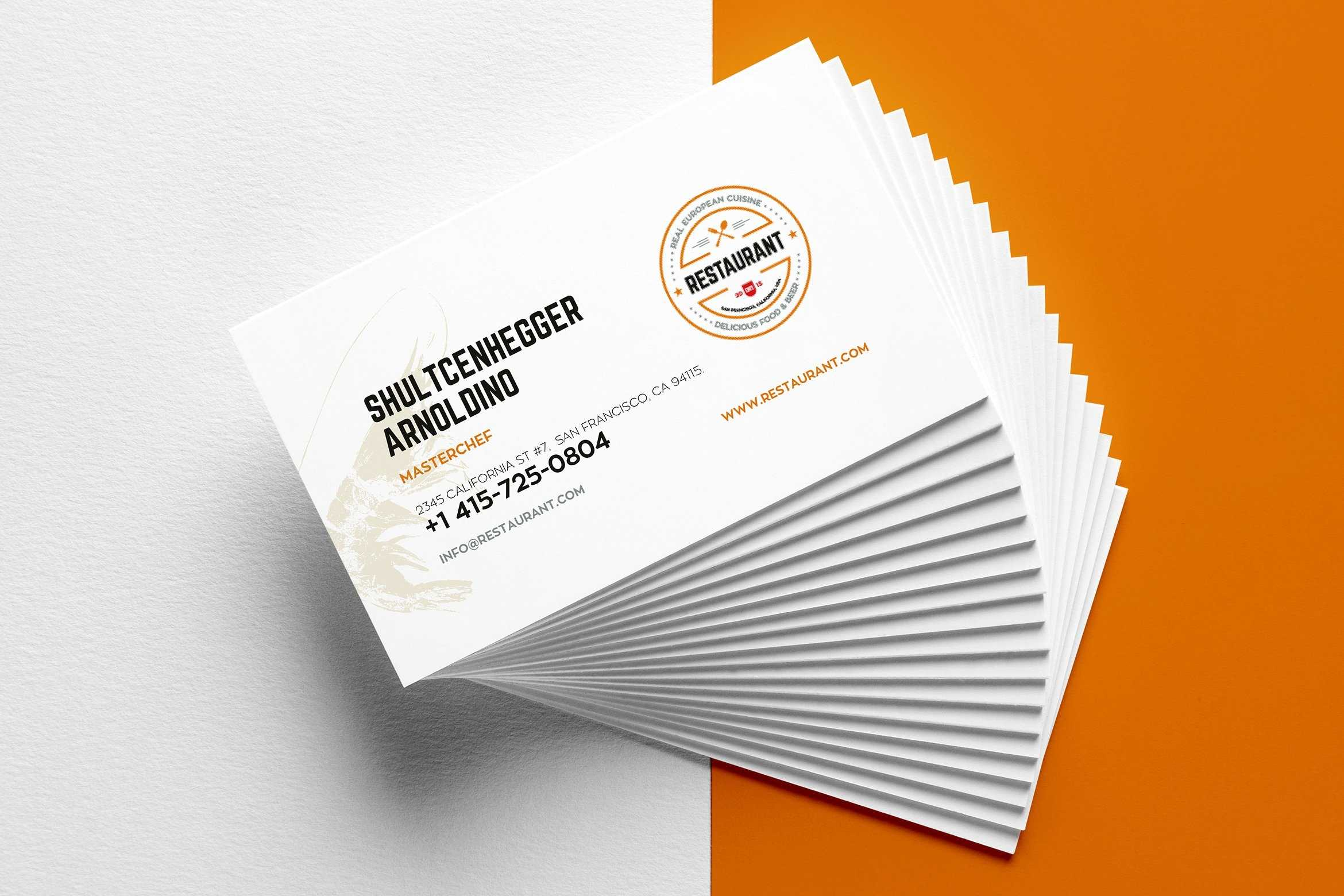 27+ Creative Restaurant Business Card Templates – Ai, Apple Pertaining To Front And Back Business Card Template Word