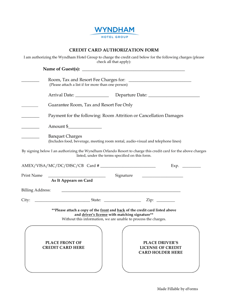 27+ Credit Card Authorization Form Template Download (Pdf within Credit Card Authorization Form Template Word