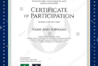 28+ Certificate Of Participation Designs & Templates – Psd within Choir Certificate Template