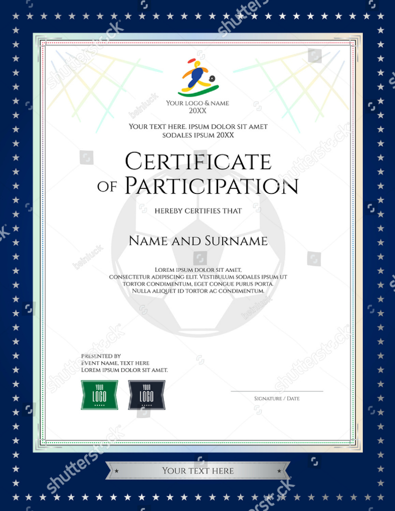 28+ Certificate Of Participation Designs & Templates - Psd within Choir Certificate Template