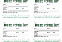 3 Best Images Of Church Visitor Card Template – Church intended for Church Visitor Card Template Word