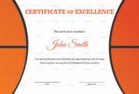 30 Basketball Award Certificate Template | Pryncepality regarding Basketball Certificate Template