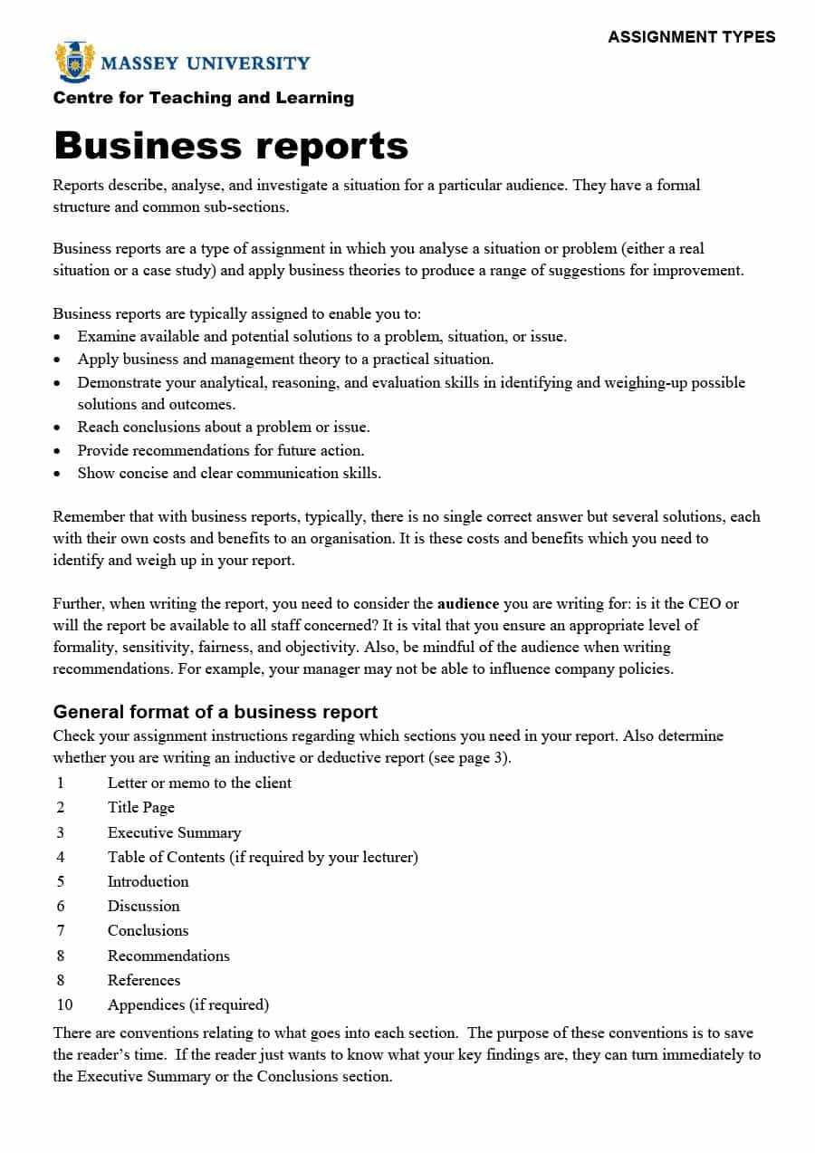 30+ Business Report Templates & Format Examples ᐅ Template Lab intended for Training Report Template Format