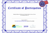 30 Certificate Of Participation Pdf | Pryncepality within Certificate Of Participation Template Pdf