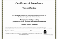 30 Ceu Certificate Of Attendance Template | Pryncepality pertaining to Conference Certificate Of Attendance Template