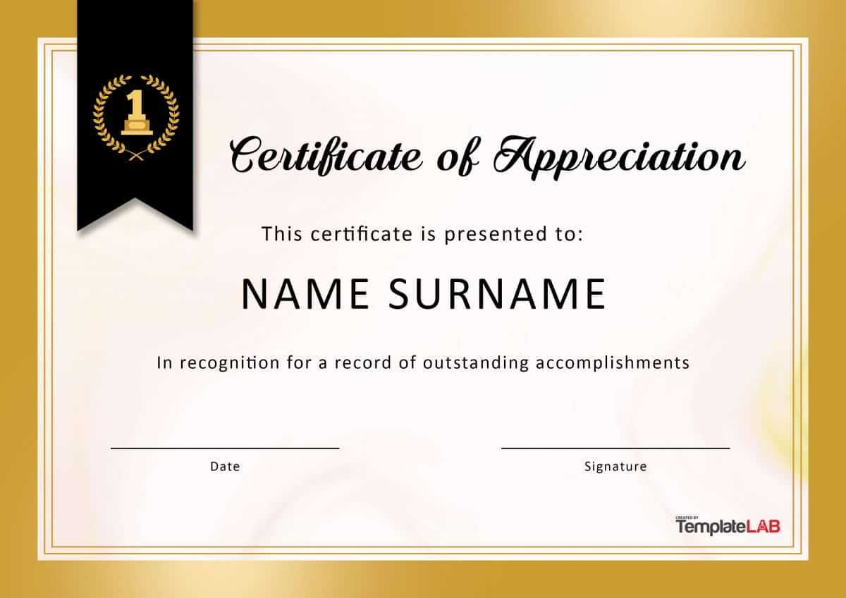 30 Free Certificate Of Appreciation Templates And Letters In Good Job Certificate Template