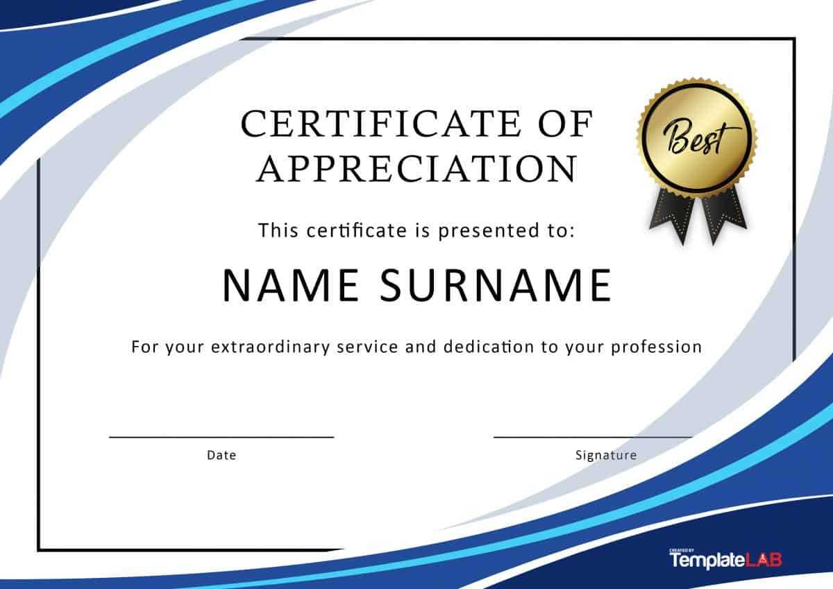 30 Free Certificate Of Appreciation Templates And Letters Inside Certificate For Years Of Service Template