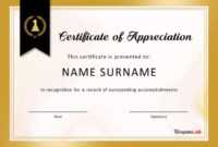 30 Free Certificate Of Appreciation Templates And Letters With Regard To Manager Of The Month Certificate Template