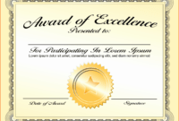 30 Good Samaritan Award Certificates   Pryncepality with Blank Award Certificate Templates Word