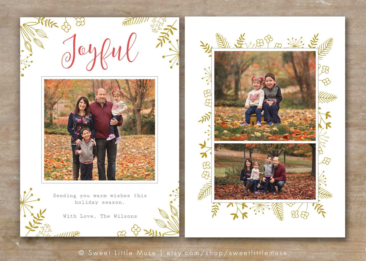 30 Holiday Card Templates For Photographers To Use This Year In Holiday Card Templates For Photographers