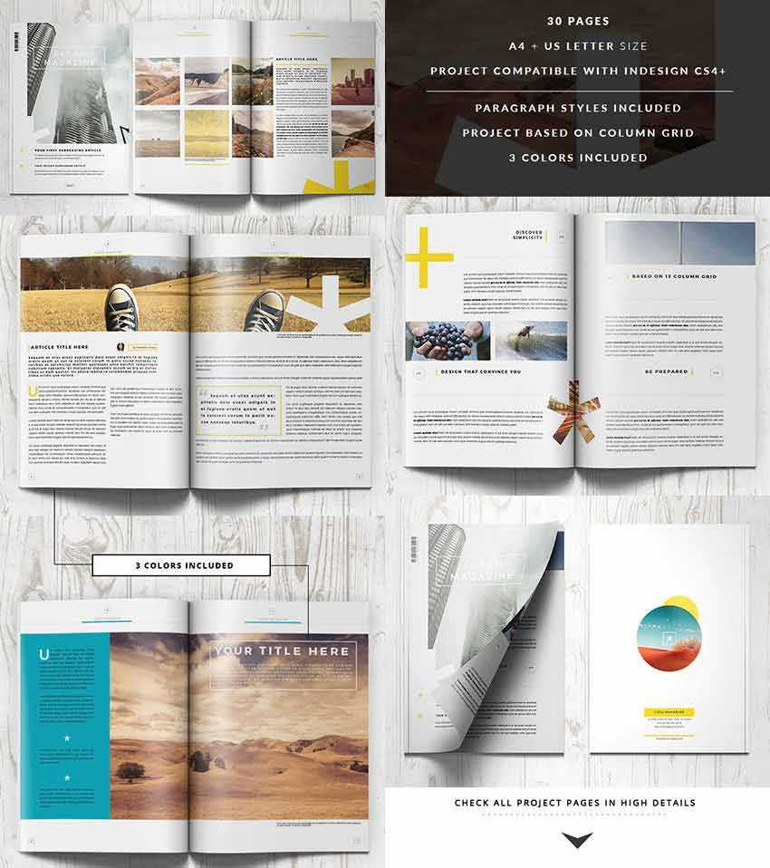 30 Magazine Templates With Creative Print Layout Designs within Magazine Template For Microsoft Word