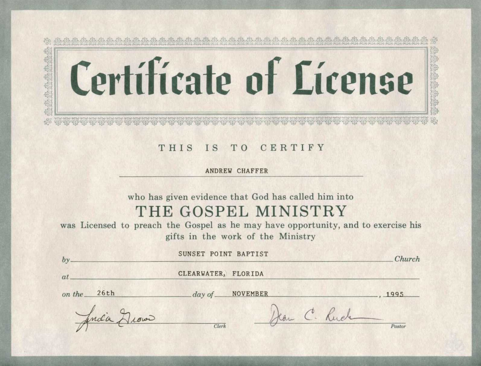 30 Minister License Certificate Template   Pryncepality Inside Certificate Of License Template