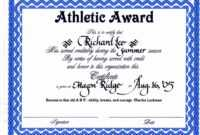30 Sports Awards Certificate Template | Pryncepality intended for Athletic Certificate Template