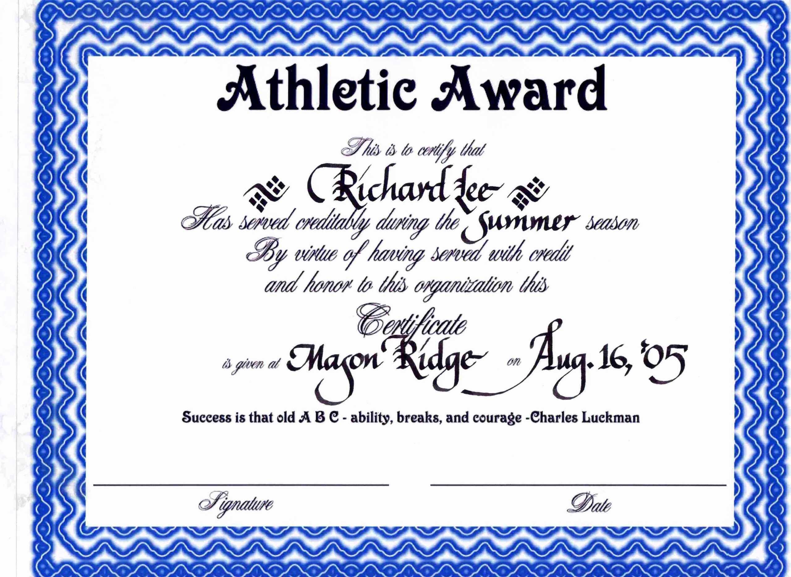 30 Sports Awards Certificate Template | Pryncepality throughout Sports Award Certificate Template Word