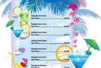 32+ Bar Menu Designs | Free & Premium Templates within Cocktail Menu Template Word Free