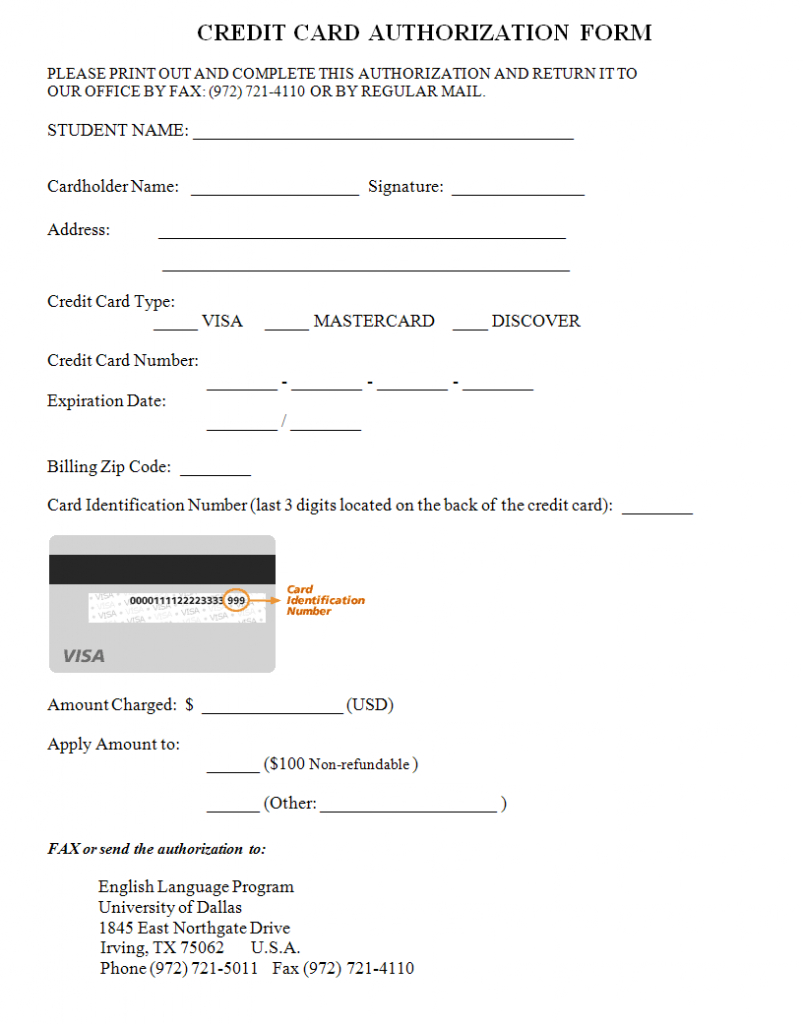 33+ Credit Card Authorization Form Template Download (Pdf, Word) with Credit Card Authorization Form Template Word