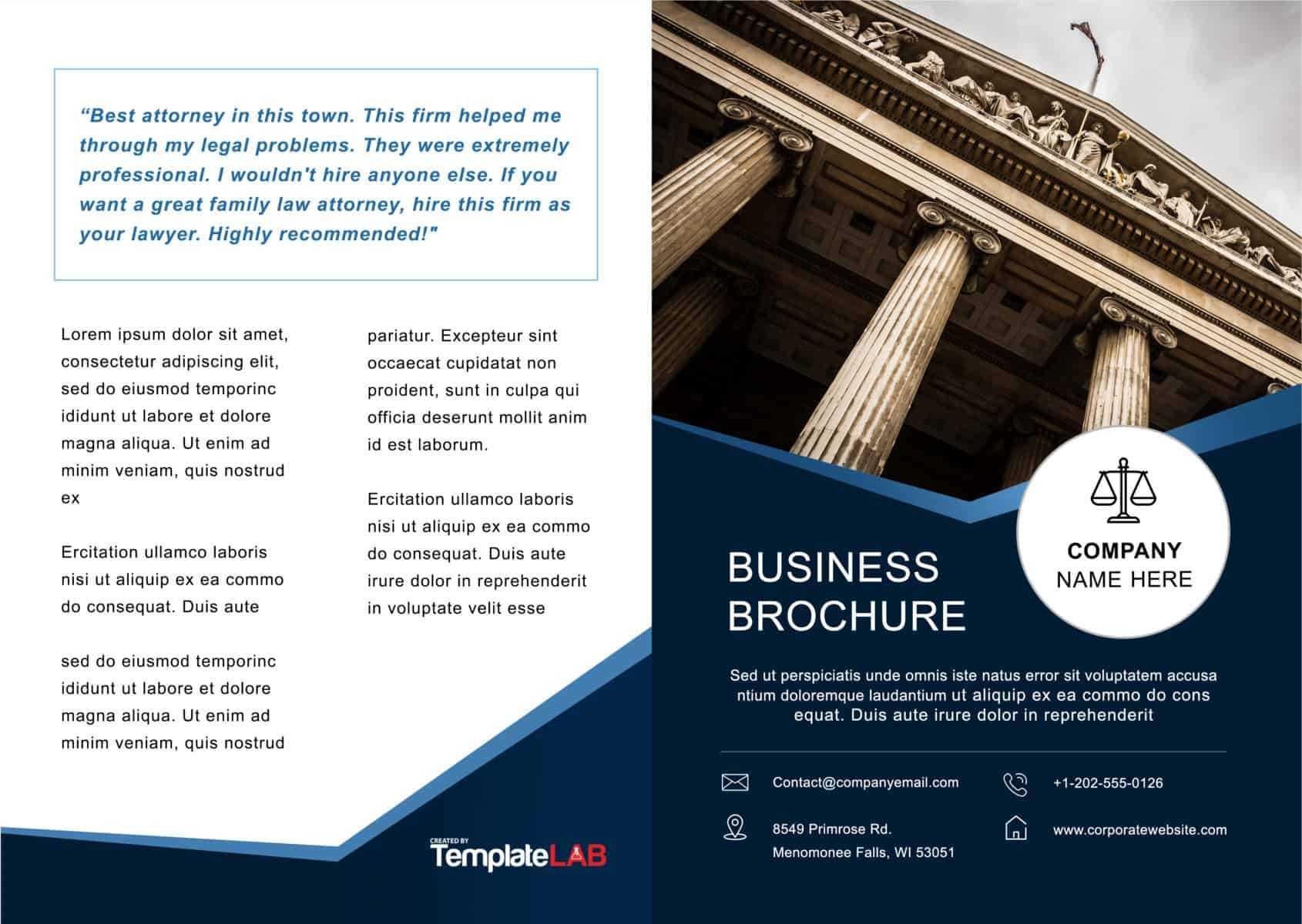 33 Free Brochure Templates (Word + Pdf) ᐅ Template Lab for Online Brochure Template Free