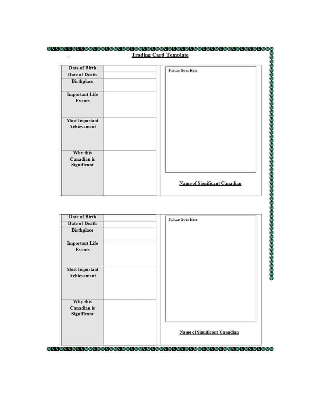 33 Free Trading Card Templates (Baseball, Football, Etc Regarding Trading Cards Templates Free Download