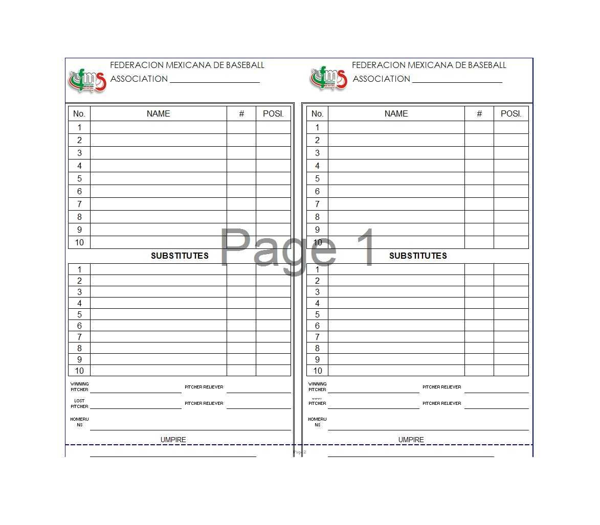 33 Printable Baseball Lineup Templates [Free Download] ᐅ Within Baseball Lineup Card Template