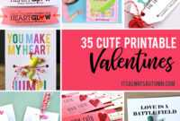 35 Adorable Diy Valentine's Cards To Print At Home For Your throughout Valentine Card Template For Kids