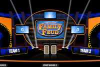 4 Best Free Family Feud Powerpoint Templates Pertaining To Family Feud Game Template Powerpoint Free
