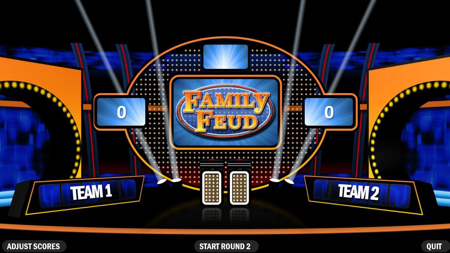 4 Best Free Family Feud Powerpoint Templates Pertaining To Family Feud Powerpoint Template Free Download